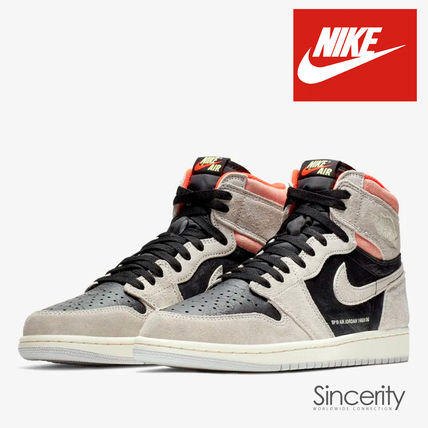 NIKE 555088-018 AIR JORDAN 1 RETRO HIGH NEUTRAL GREY / 9.5