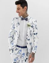 Twisted Tailor super skinny suit jacket in white with flor