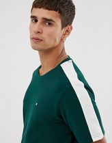 Celio tshirt with taped sleeves in green
