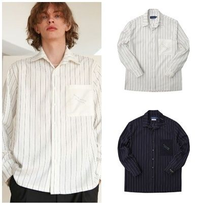 シャツ 日本未入荷TRIP LE SENSのSTITCHES STRIPE SHIRTS 全2色