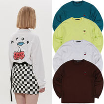 A PIECE OF CAKE(ピースオブケイク) Tシャツ・カットソー ★A PIECE OF CAKE★韓国Tシャツ Cherry Bear Longsleeve【4色】