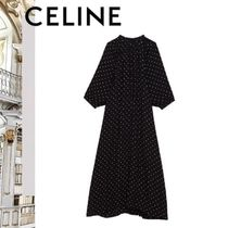 19SS 新作 CELINE フォークボタンプラケット ワンピース
