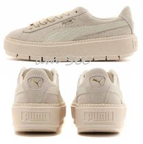 【PUMA】Select Suede Platform Traceスニーカー WhisperWhite