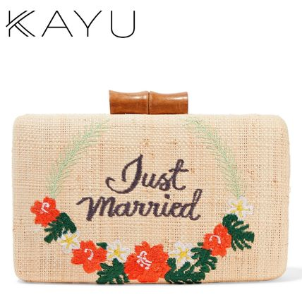 ★KAYU★ Just Married ストロー クラッチバッグ★関税 送料込★