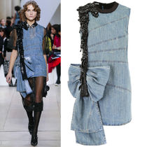 MM863 LOOK46 EMBELLISHED DENIM DRESS