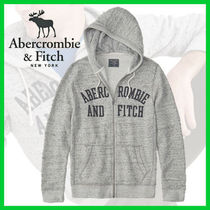 Abercrombie & Fitch◆人気フルジップ ロゴフーディー◆ヘビロテ