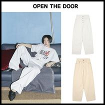 ☆OPEN THE DOOR☆ 4-button wide denim pants (2 color)