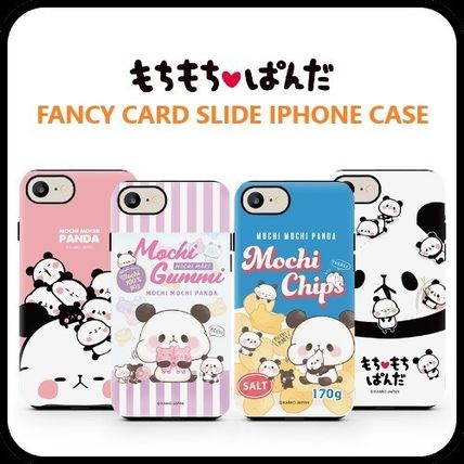 スマホケース・テックアクセサリー [KAMIO JAPAN] MOCHIMOCHI PANDA FANCY CARD SLIDE IPHONE CASE