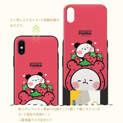 スマホケース・テックアクセサリー [KAMIO JAPAN] MOCHIMOCHI PANDA FANCY CARD SLIDE IPHONE CASE(2)