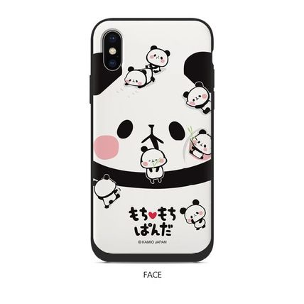 スマホケース・テックアクセサリー [KAMIO JAPAN] MOCHIMOCHI PANDA FANCY CARD SLIDE IPHONE CASE(3)