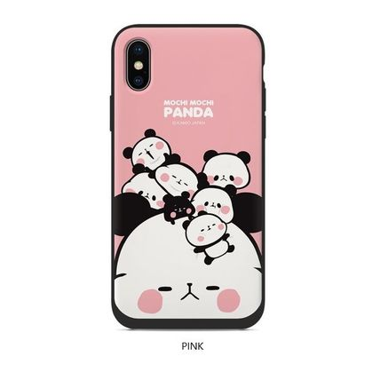スマホケース・テックアクセサリー [KAMIO JAPAN] MOCHIMOCHI PANDA FANCY CARD SLIDE IPHONE CASE(4)