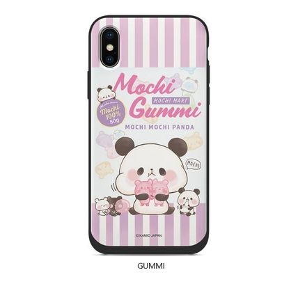 スマホケース・テックアクセサリー [KAMIO JAPAN] MOCHIMOCHI PANDA FANCY CARD SLIDE IPHONE CASE(5)
