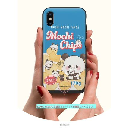 スマホケース・テックアクセサリー [KAMIO JAPAN] MOCHIMOCHI PANDA FANCY CARD SLIDE IPHONE CASE(7)