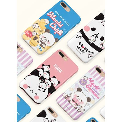 スマホケース・テックアクセサリー [KAMIO JAPAN] MOCHIMOCHI PANDA FANCY CARD SLIDE IPHONE CASE(8)