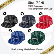 7-1/8 /Supreme Text Stripe New Era Cap ニューエラ Logo ロゴ