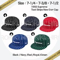 19SS /Supreme Text Stripe New Era Cap ニューエラ Logo ロゴ