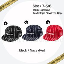 7-5/8 /Supreme Text Stripe New Era Cap ニューエラ Logo ロゴ