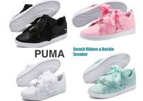 ★PUMA★SALE!リボンが魅力♡ Smash Ribbon&Buckle Sneaker