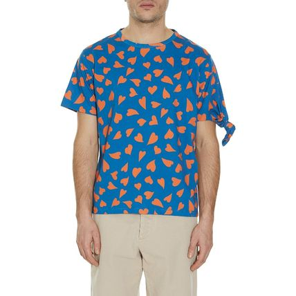 JW Anderson★All Over Hearts Knot T-Shirt Cerulean Blue