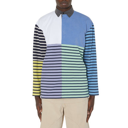 JW Anderson★Patchwork Rugby Long Sleeves Polo