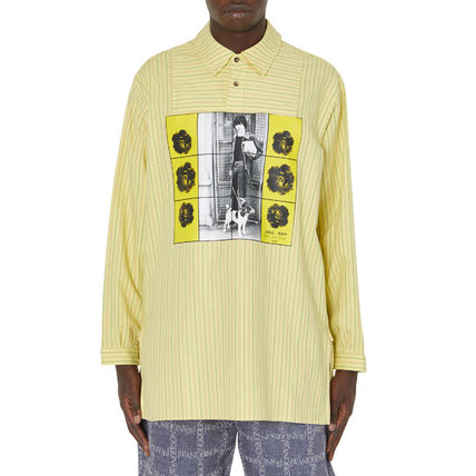 JW Anderson★Gilbert & George Printed Overdyed Tunic Shirt