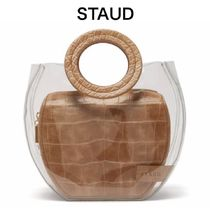 【19SS】★STAUD★Frida PVC and leather tote bag