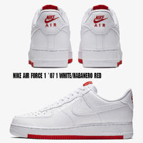 NIKE★AIR FORCE 1 '07 1★WHITE/HABANERO RED