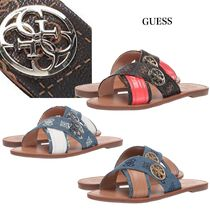【GUESS】Bridy Gロゴ フラットサンダル 3色