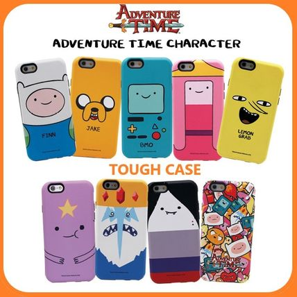 スマホケース・テックアクセサリー [ADVENTURE TIME] FINN&JAKE CHARACTER TOUGH IPHONE CASE