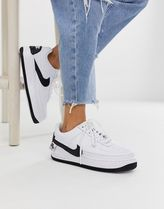 Nike white and black air force 1 jester trainers