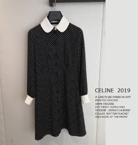 CELINE ★2019SS A-LINE DRESS  DOT PRINTED  Aラインドレス
