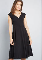 Date Night Done Right A-Line Dress in Black