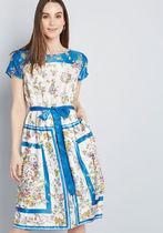 Sunlit Reverie Floral Dress