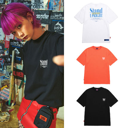 BURIED ALIVE Tシャツ・カットソー 韓国 [BURIEDALIVE] BA X FLUSH STAND-UPRIGHT T-SHIRT 全3色