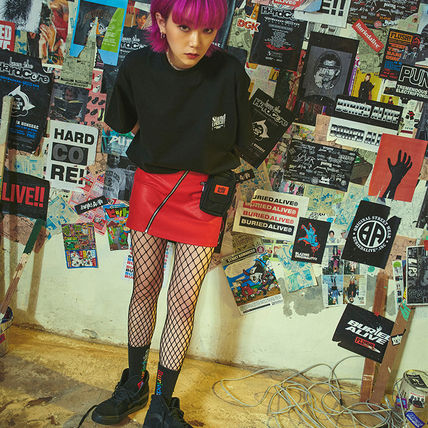 BURIED ALIVE Tシャツ・カットソー 韓国 [BURIEDALIVE] BA X FLUSH STAND-UPRIGHT T-SHIRT 全3色(2)