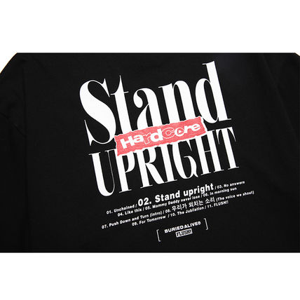 BURIED ALIVE Tシャツ・カットソー 韓国 [BURIEDALIVE] BA X FLUSH STAND-UPRIGHT T-SHIRT 全3色(15)