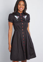 Couldnt Agree Amour Shirt Dress