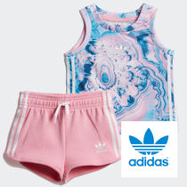 adidas☆2−4yrs☆KIDS ORIGINALS MARBLE SHORTS SET☆