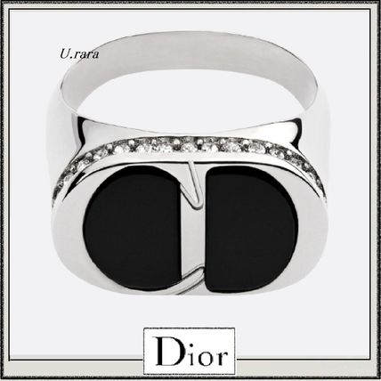 19夏新作【Dior】クール SILVER, ONYX &CRYSTAL CD ICONリング