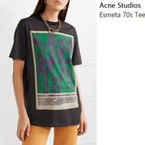 [Acne]Esmeta Printed 70 T-shirt washed ボーイフィットTシャツ