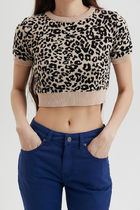 ◆MISCHIEF(ミスチーフ)◇CROPPED LEOPARD KNIT◇