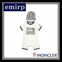 MONCLER☆出産祝いにも♪ロゴ柄ロンパース&ハットセット