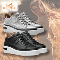 HERMES★エルメス Sneakers Polo ポロ スニーカー (argent/noir)
