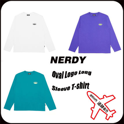 NERDY Tシャツ・カットソー 【NERDY】正規品 Oval Logo Long Sleeve T-shirt/追跡付