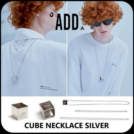 ADD SEOUL ネックレス・チョーカー [ADD SEOUL] ★19'SS NEW★CUBE NECKLACE SILVER