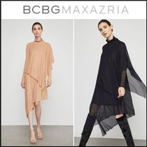 BCBG MAXAZRIA◆Asymmetrical Turtleneck Midi Dress