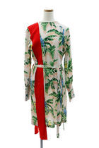STELLA McCARTNEY (ステラ) TROPICAL PRINT SILK MINI DRESS