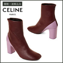 【CELINE】 LEATHER ANKLE BOOTS レザー アンクル ブーツ