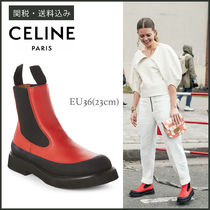【CELINE】 Country Ankle Boots カントリー ブーツ 赤×黒 23cm