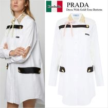 PRADA Dress With Gold-Tone Buttons